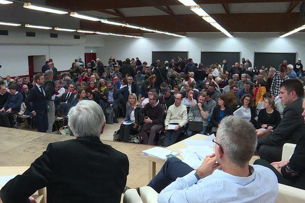 Réunion d'information à Sainte-Pazanne, le 26 novembre 2019