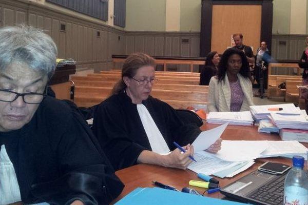 Perpignan : Jean-Robert Phung et Françoise Delran avocats de Diane Mistler - 25 octobre 2012.