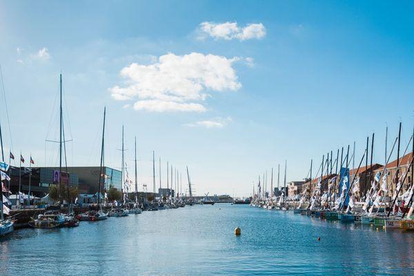 Le bassin Paul Vatine au Havre pour la Transat Jacques Vabre 2017