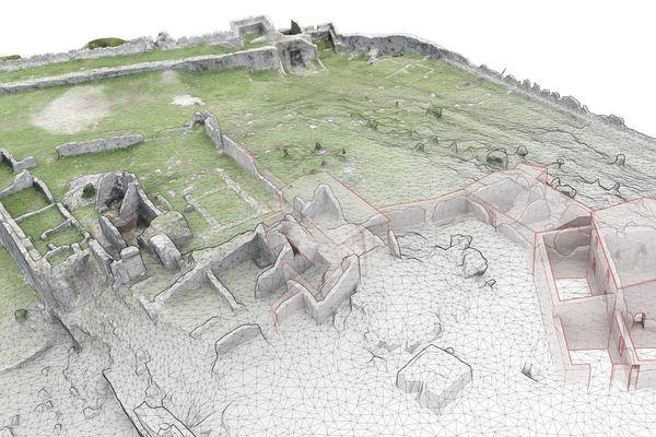 La forteresse de Lissos, en Albanie en modélisation numérique.