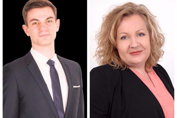 Jean-Raphaël Sandri, Front National, et Sophie Montel, Les Patriotes, candidats à l'élection partielle de la première circonscription du Territoire de Belfort