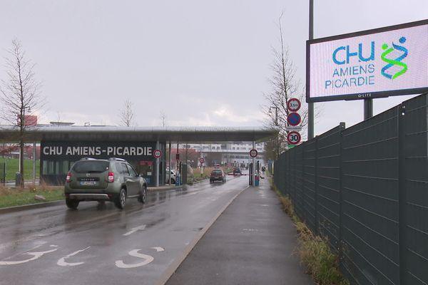 L'entrée du CHU Amiens Picardie, le 25/02/2020