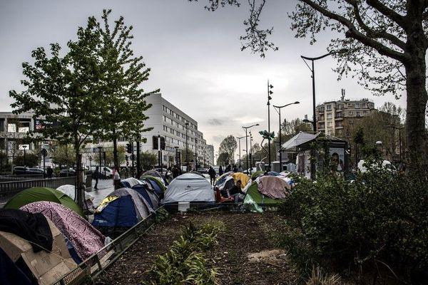 A Porte d'Aubervilliers, l'un des nombreux campements de réfugiés qui émaillent la capitale. Il a été évacué il y a deux semaines.