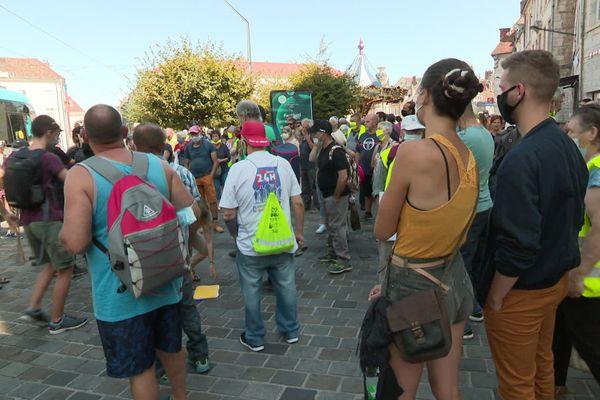 Ils étaient entre 250 et 300 sur la place de la Révolution en ce samedi 12 septembre à Besançon