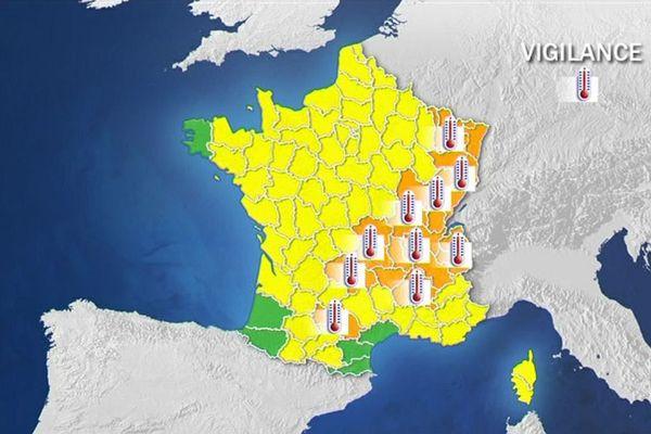 Une bonne partie Centre Est de la France demeure sous vigilance orange