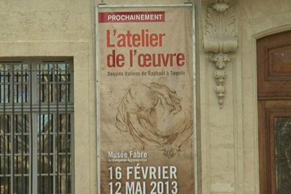 L'affiche de l'exposition de dessins italiens