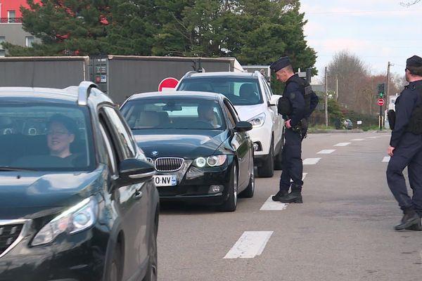Un contrôle de gendarmerie en Pays de la Loire en mars 2020