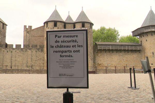 La Cité de Carcassonne sans touristes
