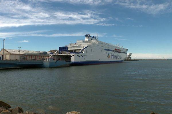 Le Galicia dans le port de Cherbourg le 28 juin