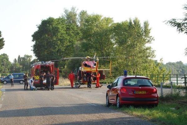 Intervention des pompiers suite à la noyade de deux enfants à Saint-Avit-Saint-Nazaire (Gironde) - le 08/07/2013