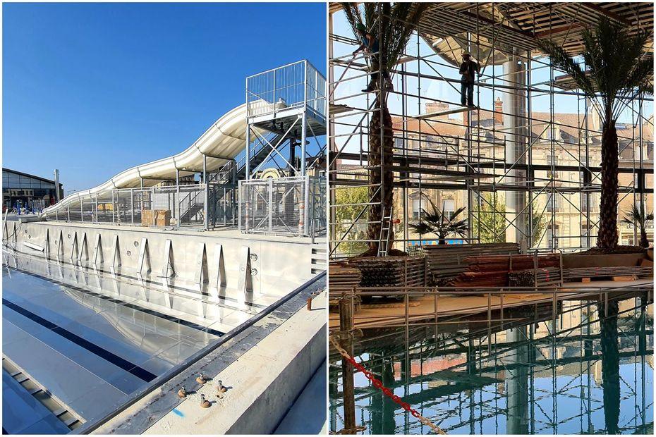 EN IMAGES - Reims : visite guidée du complexe aqualudique, sur le parvis Camille Muffat (UCPA Sport Station)