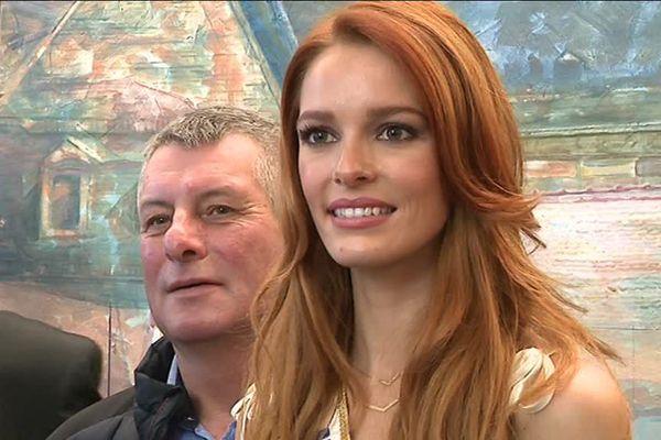 Maëva Coucke, Miss France 2018, en visite à Saint-Avold (57)