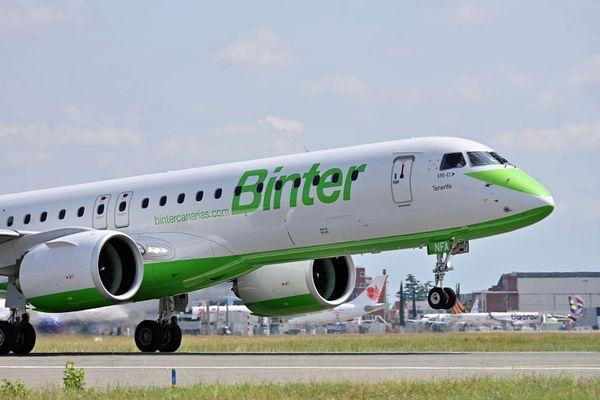 Un avion de la compagnie Binter - 2021.