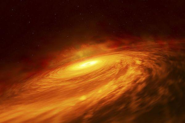 Trou noir massif au coeur d'une galaxie en spirale observé par l'Agence spatiale européenne en juillet 2019.