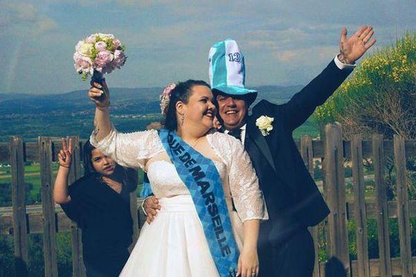 Christophe et Célicia se sont mariés ce week-end, sans jamais oublier leur équipe de coeur.