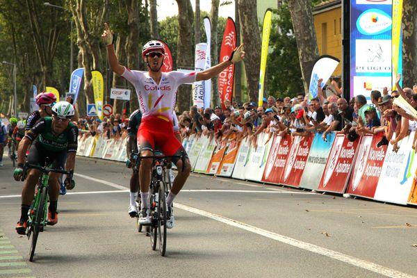 Christophe Laporte (Cofidis), vainqueur de la 1ère étape du TPC 2019 à Rochefort.