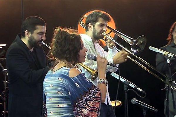Natacha Atlas et Ibrahim Maalouf sur la scène de Jazz à Vienne
