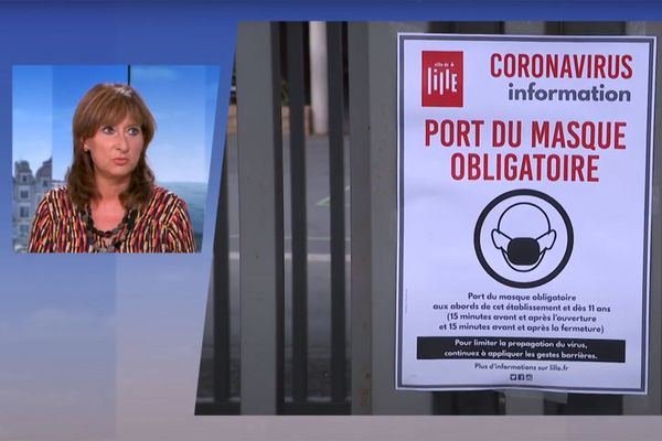 Valérie Cabuil, sur le plateau de France 3 Nord Pas-de-Calais ce mardi soir