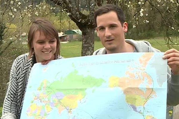 Annia et Romain partent faire le tour du monde à vélo