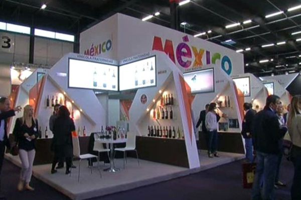 Le stand du Mexique sur le salon Vinexpo