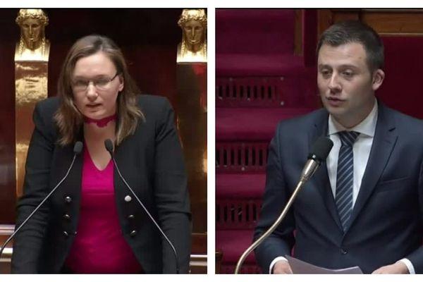Fannette Charvier, LREM, et Ian Boucard, LR, respectivement député du Doubs et du Territoire de Belfort