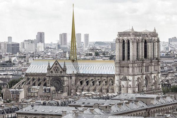 Le projet imaginé par un cabinet d'architectes dijonnais transporte la cathédrale dans le XXIe siècle.