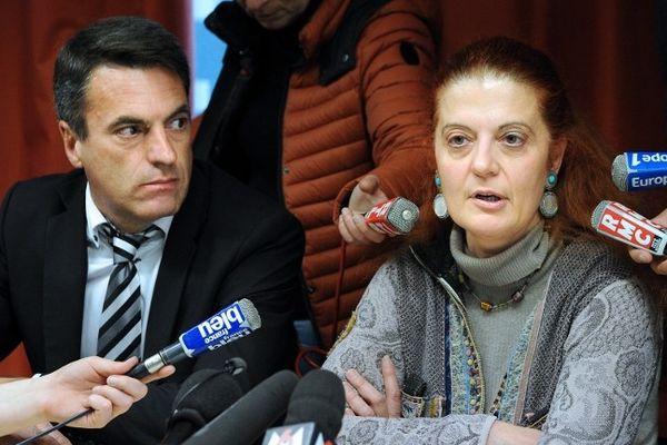 Nîmes - conférence de presse de Gilles Soulié (Directeur régional de la police judiciaire) et Laure Beccuau (Procureure de Nîmes) - 25 janvier 2013.