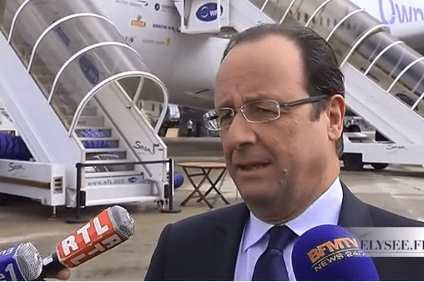 Le Président de la République François Hollande était ce vendredi 21 juin 2013 en visite officielle au 50e salon aéronautique, au Bourget.