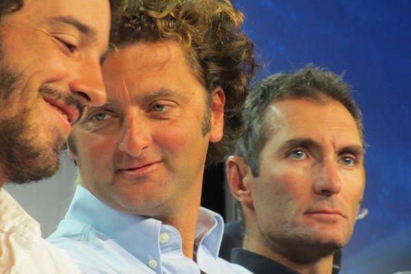 Louis Burton, Arnaud Boissières et Jérémie Beyou