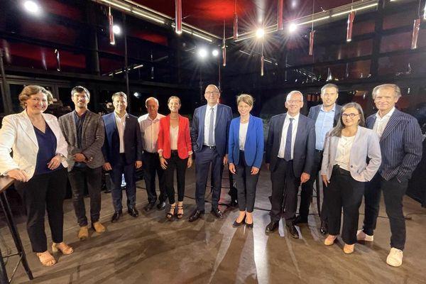 Les candidats invités pour le débat du premier tour des Régionales 2021 en Bretagne