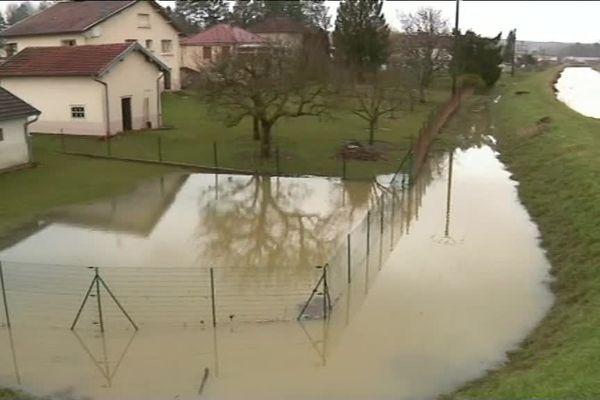 Les inondations à Corre (Haute-Saône)