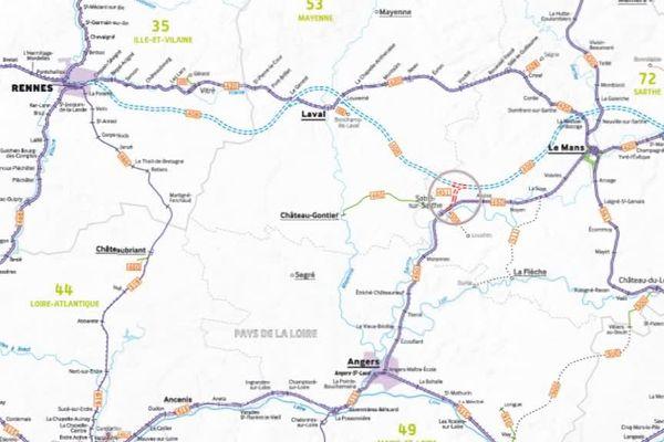 La virgule ferroviaire de Sablé-sur-Sarthe a été inaugurée en juillet 2017