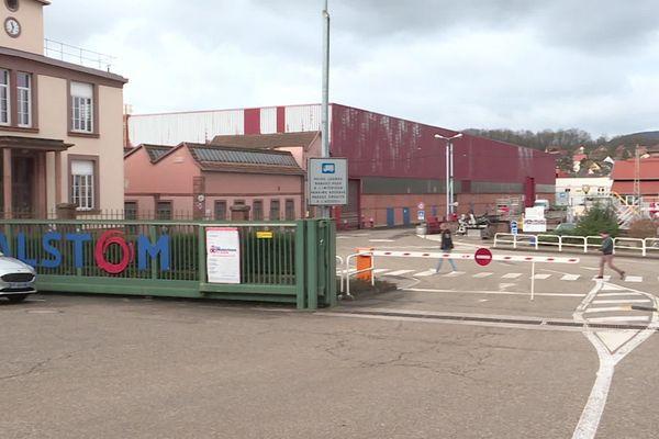 L'usine Alstom à Reischoffen.