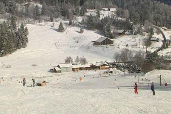 Vue générale du domaine skiable