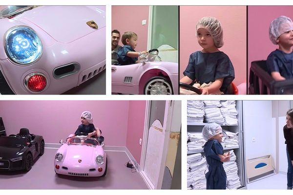 Des voitures électriques pour détendre les petits patients.