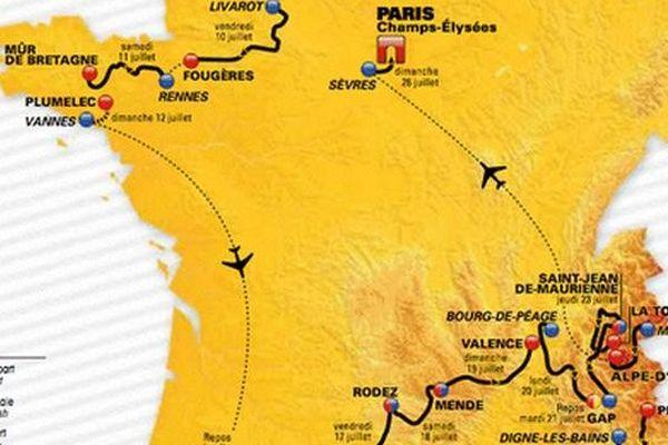 """tour de France 2015 : la carte """"twitter"""". La carte officielle sera elle dévoilée ce mercredi 22 octobre à Paris par l'organisation du Tour de France"""