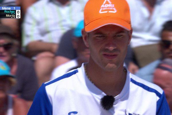 Dylan Rocher dans la 16e de finale contre l'équipe d'Ulrich Moritz