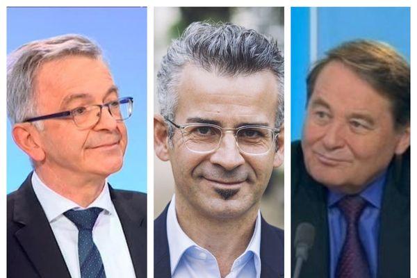 François Bonneau, président de la région Centre-Val de Loire, Emmanuel Denis, maire de Tours et André Laignel, vice-président de l'association des maires de France et maire d'Issoudun