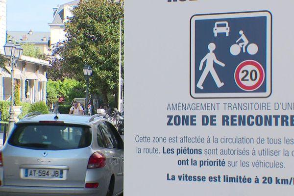 La vitesse est désormais limitée à 20km/ h pour les autos dans les deux rues principales d'Aix-les-Bains. Priorité aux piétons et aux vélos