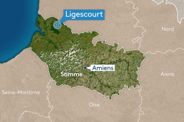 L'incendie s'est produit dans la nuit du samedi 29 au dimanche 30 juin à Ligescourt, dans la Somme.