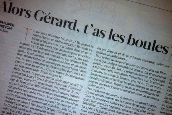 Libération du mardi 18 décembre 2012