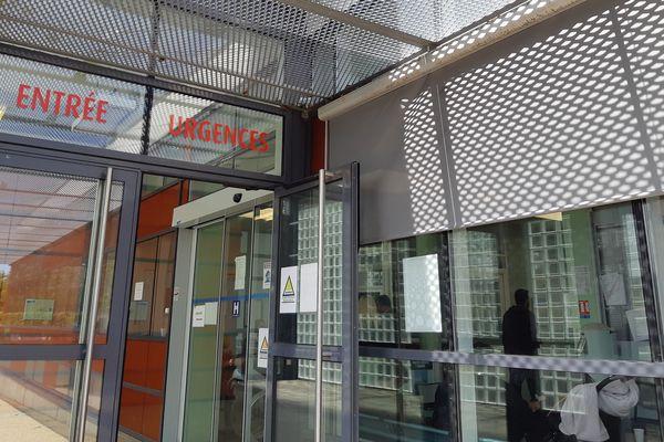 L'entrée des urgences de l'hôpital de Pithiviers