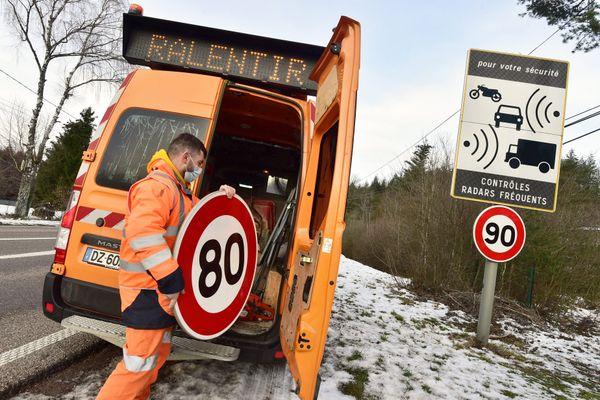 Plusieurs départements ont acté un retour aux 90km/h sur les routes les moins accidentogènes.