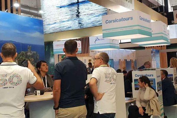 La Corse présente au salon Top Resa, grand rendez-vous des professionnels du tourisme français, qui se tient à Paris jusqu'à vendredi.