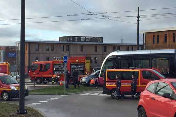 L'accident est survenu ce matin peu après 9h au Pôle Santé du parc Valmy à Dijon