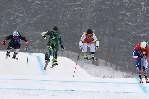 Alizée Baron très déçue par sa performance dans la demi-finale de ski cross à Pyeongchang.