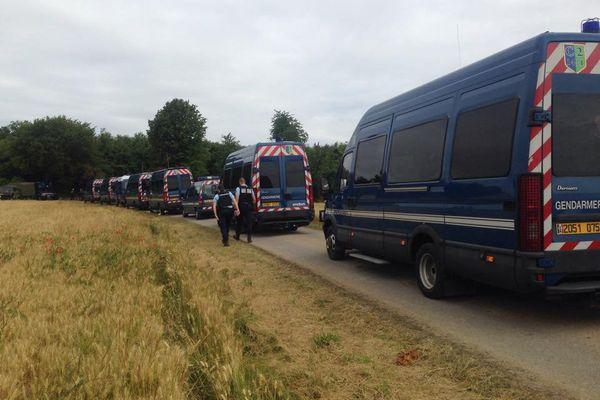 Les gendarmes sont venus en nombre.