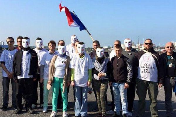 """Photo postée juste avant la manifestation par le collectif """"Calaisiens en colère""""."""