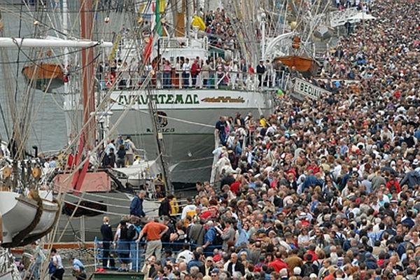 Les quais de Rouen pendant l'Armada