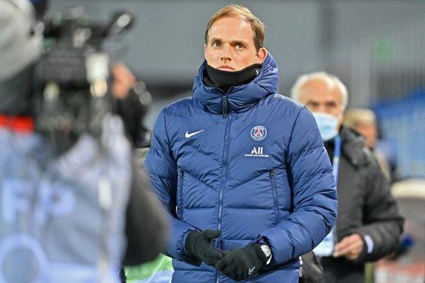 Thomas Tuchel lors de la rencontre entre Montpellier Hérault (MHSC) et le PSG, le 5 décembre dernier.